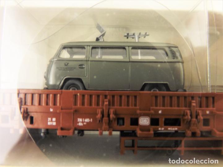 Trenes Escala: Trix Vagón plataforma con vehículo 03 H0 - Foto 2 - 204409426