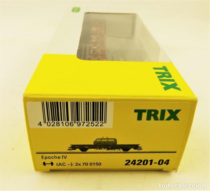 Trenes Escala: Trix Vagón plataforma con vehículo 03 H0 - Foto 3 - 204409426