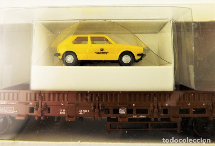 Trenes Escala: Trix Vagón plataforma con vehículo 13 H0 - Foto 2 - 204409301