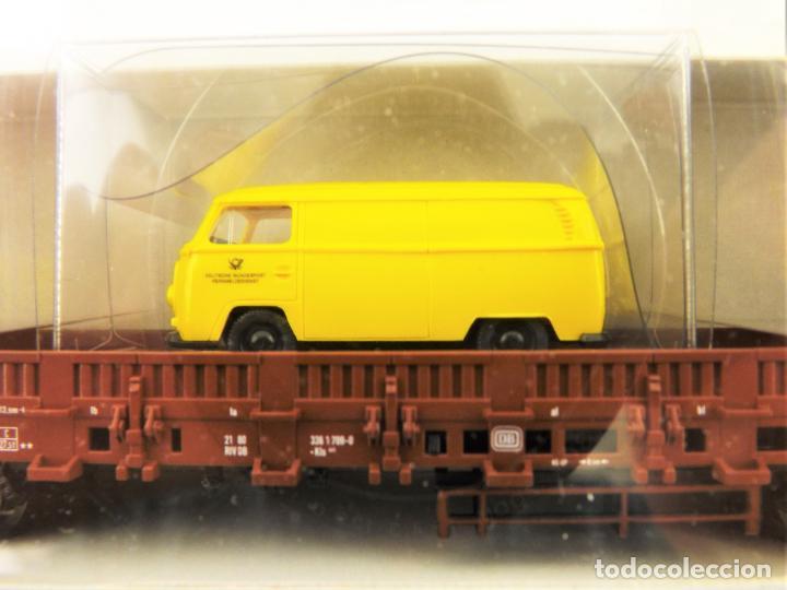 Trenes Escala: Trix Vagón plataforma con vehículo 08 H0 - Foto 2 - 204409573