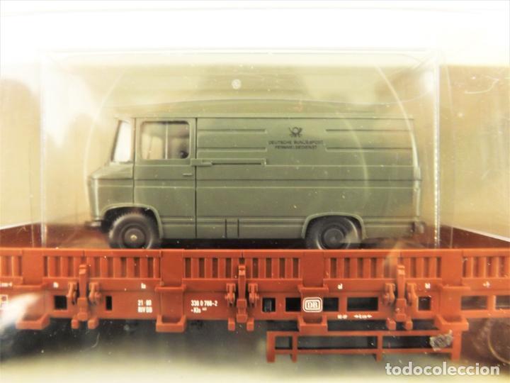 Trenes Escala: Trix Vagón plataforma con vehículo 10 H0 - Foto 3 - 204409198