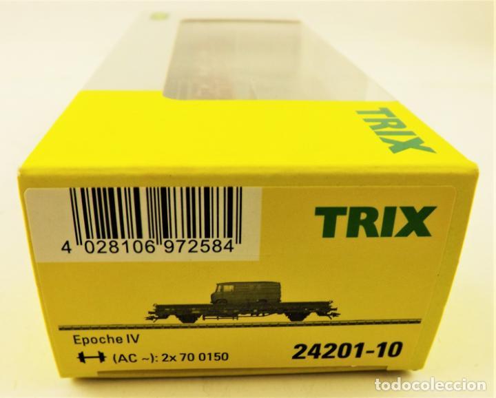Trenes Escala: Trix Vagón plataforma con vehículo 10 H0 - Foto 4 - 204409198