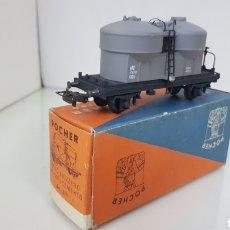 Trenes Escala: VAGON CISTERNA MERCANCIAS POCHER 311 GRIS ESCALA H0 DE 11CMS. Lote 191814625
