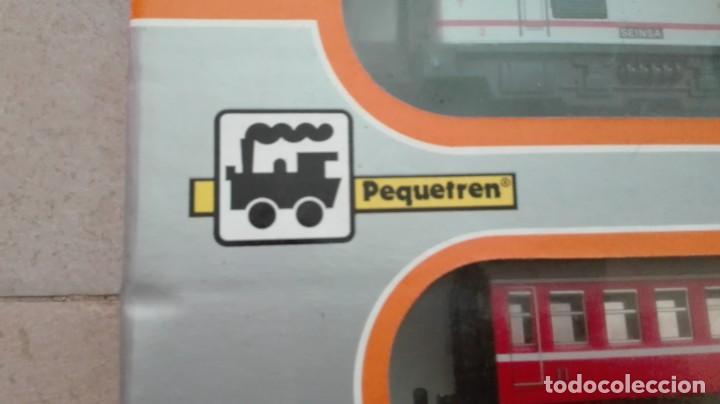 Trenes Escala: Tren electrico a pilas con luz y estacion pequetren ref.602 ,tren correo madrid alicante,nuevo s - Foto 2 - 193258311