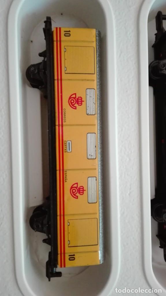 Trenes Escala: Tren electrico a pilas con luz y estacion pequetren ref.602 ,tren correo madrid alicante,nuevo s - Foto 8 - 193258311