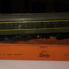 Trains Échelle: VAGON MINIATURA GARVI, PASAJEROS, CON CAJA Y PAPEL DESCRIPCIÓN VAGON REAL. Lote 193269843