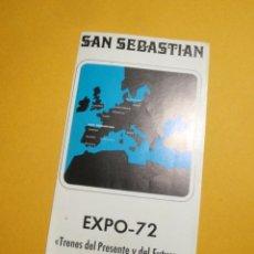 Trenes Escala: PROGRAMA TRENES DEL PRESENTE Y DEL FUTURO. SANT SEBASTIÁN. EXPO-72. Lote 193284888