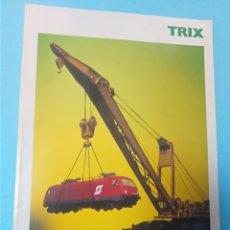 Trenes Escala: CATÁLOGO TREN TRIX LOCOMOTORA VAGÓN TRENES VÍAS MODELISMO. Lote 193329457