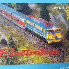 Trenes Escala: CATÁLOGO TREN ELECTROTREN LOCOMOTORA TREN VAGÓN VÍA MODELISMO MAQUETAS. Lote 193329678