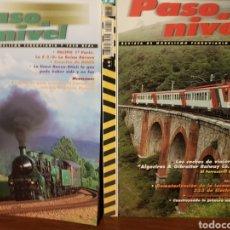 Trenes Escala: DOS REVISTAS PASO A NIVEL, 5 Y 12, AÑOS 2002-2003. Lote 193358662