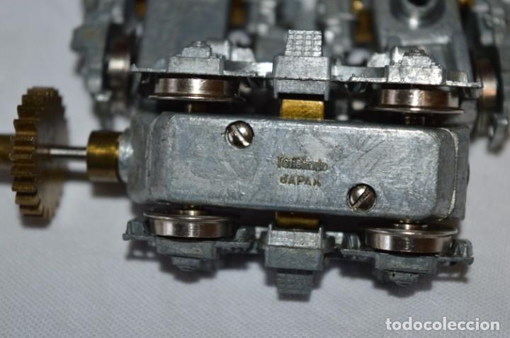Trenes Escala: TENSHODO / H0 - Lote 3 BOGIES - Muy ANTIGUOS / Vintage - Todo metálico - ¡Muy buen estado, mira! - Foto 7 - 193674526