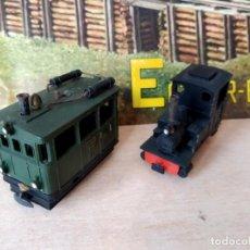Trenes Escala: EGGER-BAHN TRANVÍA A VAPOR FEURIGE ELIAS Y LOCOMOTORA 1002. Lote 193962523