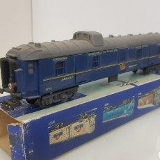 Trenes Escala: POCHER VAGÓN DE EQUIPAJES AZUL DE 25CMS DE LA COMPAÑÍA DE GRANDES EXPRESOS EUROPEOS. Lote 194065986