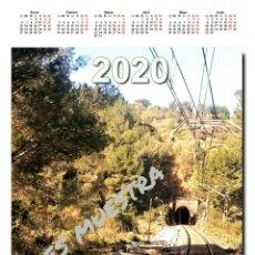 Trenes Escala: CALENDARIO 2020. Lote 194160632