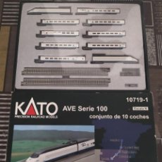 Trenes Escala: AVE RENFE SERIE 100 DE KATO 10 COCHES ESCALA N. Lote 194241042