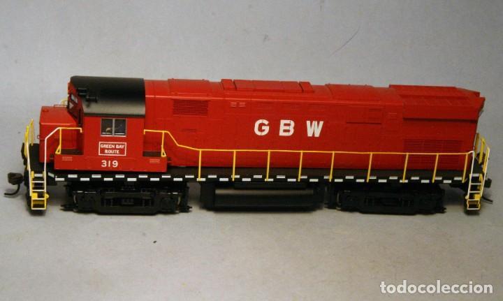 Trenes Escala: ATLAS. Escala H0. Locomotora ALCO C424. Green Bay & Western #319. Digital. - Foto 2 - 194287880