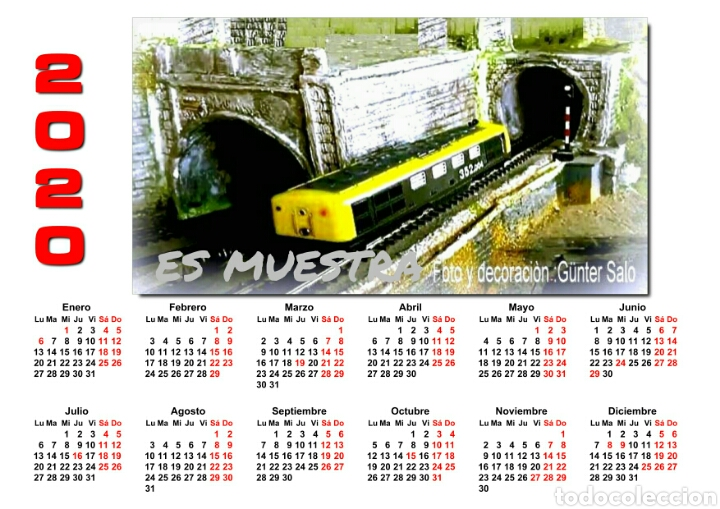CALENDARIO 2020 (Juguetes - Trenes - Varios)