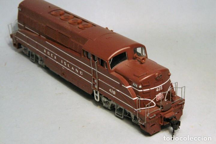 Trenes Escala: PROTO 2000. Escala H0. Locomotora EMD BL2. Rock Island. #428. Digital - Foto 3 - 194382455