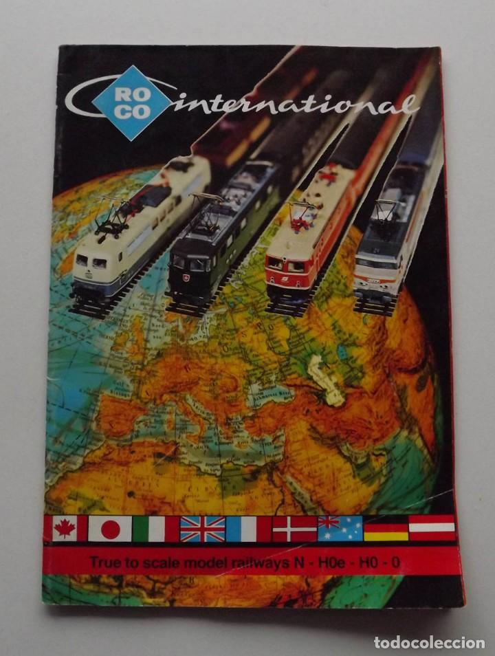 1977, CATALOGO ROCO INTERNATIONAL TRENES N, H0E, H0 Y 0 MODELISMO FERROVIARIO (Juguetes - Trenes - Varios)