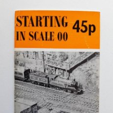 Trenes Escala: 1968 CATÁLOGO DE TRENES STARTING IN SCALE 00, A PECO PUBLICATION, MODELISMO FERROVIARIO. Lote 194402770