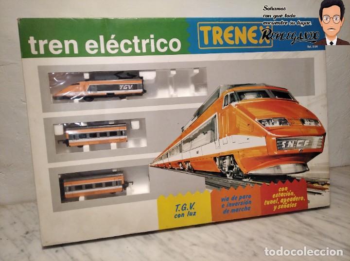 TREN TGV FRANCÉS IBERTREN TRENEX REF.5104 - FUNCIONA - PRÁCTICAMENTE COMO NUEVO (Juguetes - Trenes - Varios)