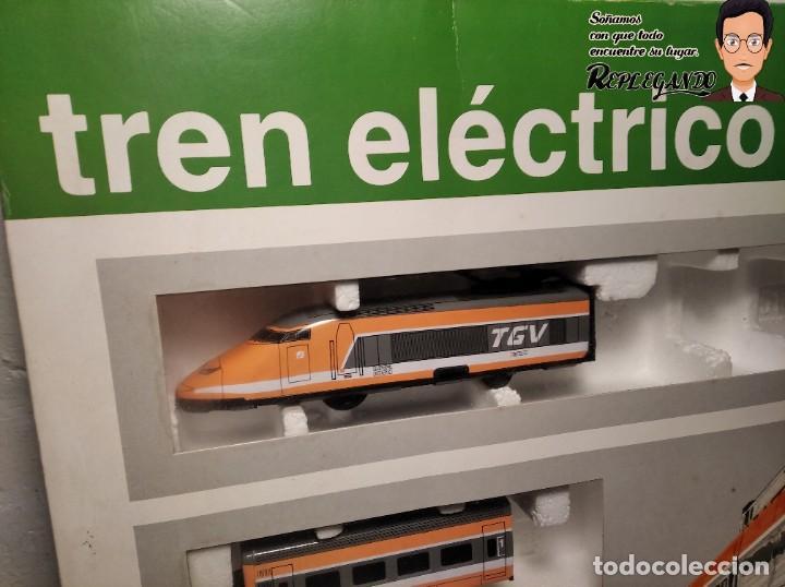 Trenes Escala: TREN TGV FRANCÉS IBERTREN TRENEX REF.5104 - FUNCIONA - PRÁCTICAMENTE COMO NUEVO - Foto 2 - 194468473