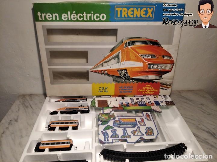 Trenes Escala: TREN TGV FRANCÉS IBERTREN TRENEX REF.5104 - FUNCIONA - PRÁCTICAMENTE COMO NUEVO - Foto 16 - 194468473