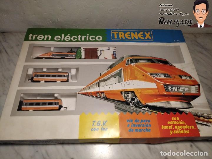 Trenes Escala: TREN TGV FRANCÉS IBERTREN TRENEX REF.5104 - FUNCIONA - PRÁCTICAMENTE COMO NUEVO - Foto 17 - 194468473