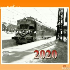 Trenes Escala: CALENDARIO 2020 ESTACIÒN DE SABADELL AÑOS 60. Lote 194594285