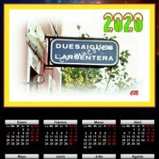 Trenes Escala: CALENDARIO 2020 DUESAIGÜES - L'ARGENTERA. Lote 194596610