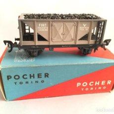 Trenes Escala: VAGON POCHER PORTA CARBÓN FIAT. Lote 194630745