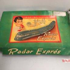 Trenes Escala: TREN RADAR EXPRES. JUGUETES XAFMAS. CONTROLADO POR ONDAS SONORAS. CIRCA 1960.. Lote 194640996