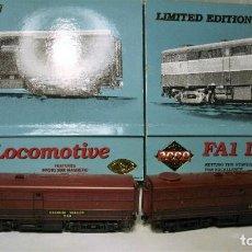 Trenes Escala: PROTO 2000. ESCALA H0 COMPOSICIÓN 2 LOCOMOTORAS ALCO FA1 Y FB1. LEHIGH VALLEY. DIGITAL.. Lote 194756830