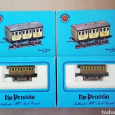 Trenes Escala: BACHMANN HO - 2 VAGONES PASAJEROS - THE PRUSSIA - PJRB. Lote 194969046