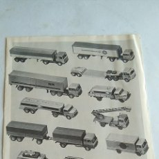 Trenes Escala: WIKING H0 CATÁLOGO 1972.. Lote 194972637