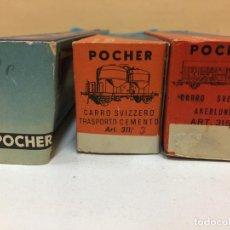 Trenes Escala: LOTE TRES CAJAS POCHER. Lote 195238641