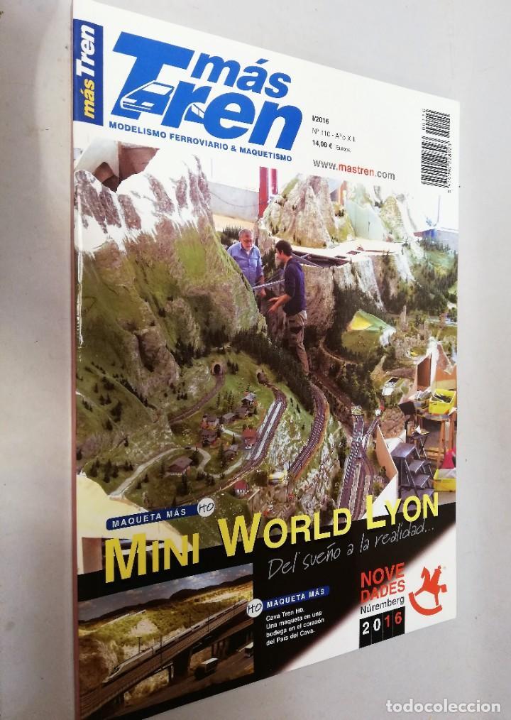 REVISTA MAS TREN 2016. Nº110. MINI WORLD LYON (Juguetes - Trenes - Varios)