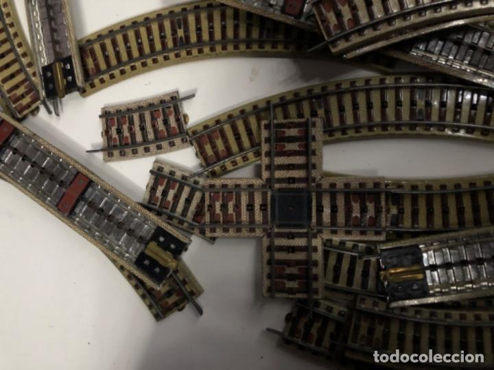 Trenes Escala: VÍAS DE TREN METÁLICAS Märklin LOTE - Foto 2 - 195264113