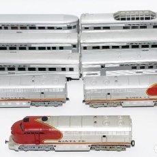 Trenes Escala: LOTE LOCOMOTORA Y VAGONES RIVAROSSI SANTA FE. Lote 195304363