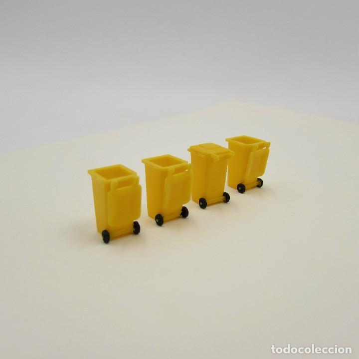 Trenes Escala: Preiser Contenedores de basura Amarillo. Escala 1/87 H0 (P085) - Foto 3 - 195339902