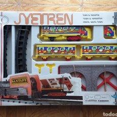 Trenes Escala: JYETREN TREN A CUERDA / RESORTE REF. 1512 - JYESA, AÑOS 80 - NUEVO SIN USO RARO DIFICIL A ESTRENAR. Lote 195641075