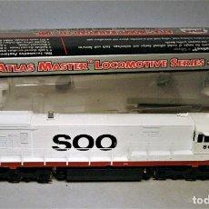 Trenes Escala: ATLAS SILVER ESCALA H0. LOCOMOTORA AMERICANA. GE U30 C PHASE 2. SOO LINE #800. DC. DIGITAL. Lote 196871410