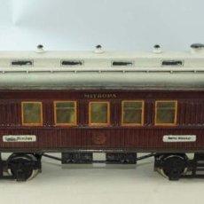 Trenes Escala: VAGON DE TREN MARKLIN ESCAÑA 1 WAGONS-LITS GRAND EUROPEAN EXPRESS RESTAURANT COCHE NO.1932. PINTADO. Lote 197183340