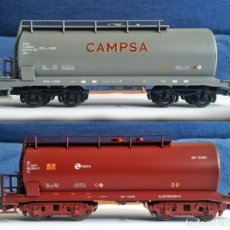 Trenes Escala: LOTE 2 VAGONES CISTERNA RENFE PIKO 58045/58034. Lote 197647806