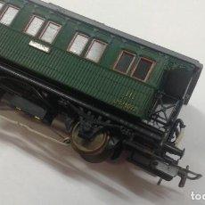 Trenes Escala: VAGÓN DE PASAJERO CORTO CON LUZ INTERIOR. Lote 197849055
