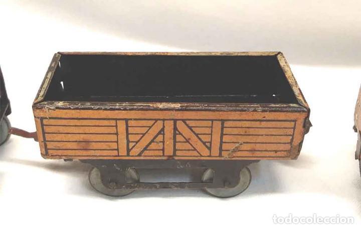 Trenes Escala: Locomotora Tren 264 Cervantes hojalata litografiada años 50 - Foto 4 - 197958233