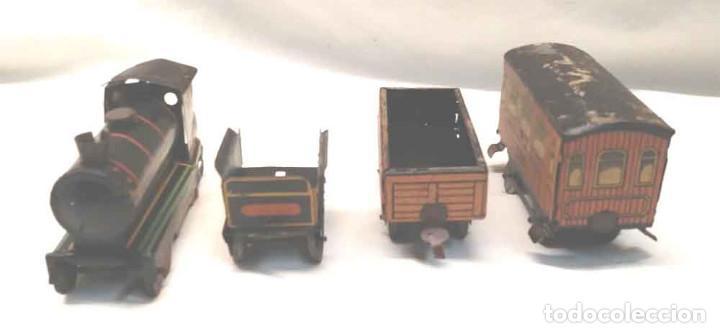 Trenes Escala: Locomotora Tren 264 Cervantes hojalata litografiada años 50 - Foto 6 - 197958233
