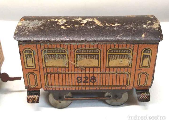 Trenes Escala: Locomotora Tren 264 Cervantes hojalata litografiada años 50 - Foto 10 - 197958233