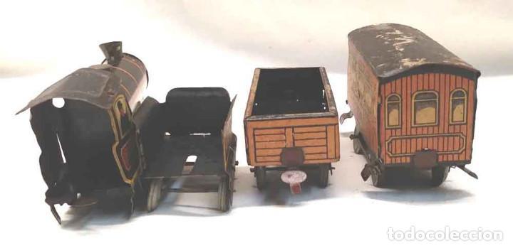 Trenes Escala: Locomotora Tren 264 Cervantes hojalata litografiada años 50 - Foto 11 - 197958233