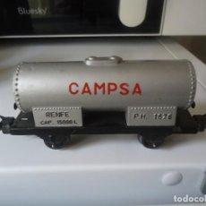Trenes Escala: VAGON CISTERNA COMBUSTIBLE CAMPSA RENFE,PAYA,RICO,IBERTREN?.MEDIDAS 10CM Y 3CM APROX. Lote 198119651